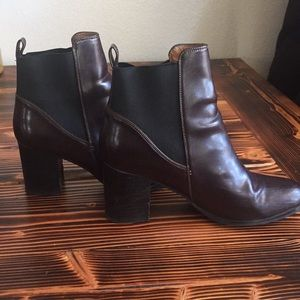 H&M Brown Leather Ankle Boots 40